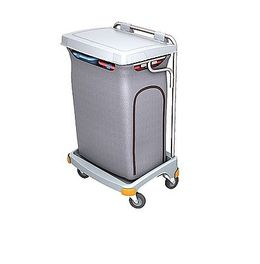 Splast plastic grey double waste trolley 2x 70l - lid is an option – Bild 1