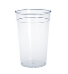 20 piece Plastic reusable-cup crystal clear 0,5l PC stackable