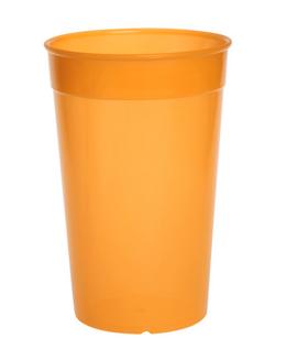 20er Set Kunststoff Mehrweg-Becher orange 0,2l leicht und vielseitig – Bild 1