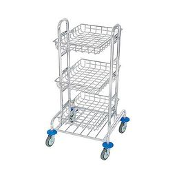 Splast chrome MIDI trolley with 3 baskets - waste bag holder is optional – Bild 1