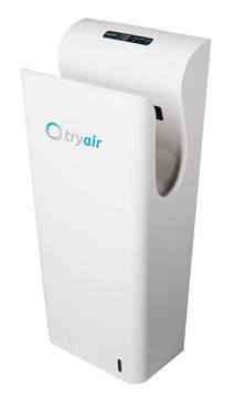 tryair electric, innovative and modern hand dryer with clever technology white/silver – Bild 1