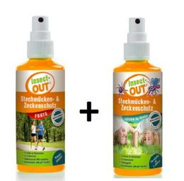 Set Insect-OUT® Mosquito & Tick Protection forte 100 ml + Lotion for children 100 ml