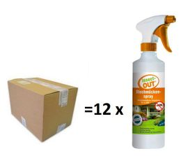 Set 1 carton with 12 pieces Insect-OUT® Mosquito spray 500 ml for immediate action – Bild 1