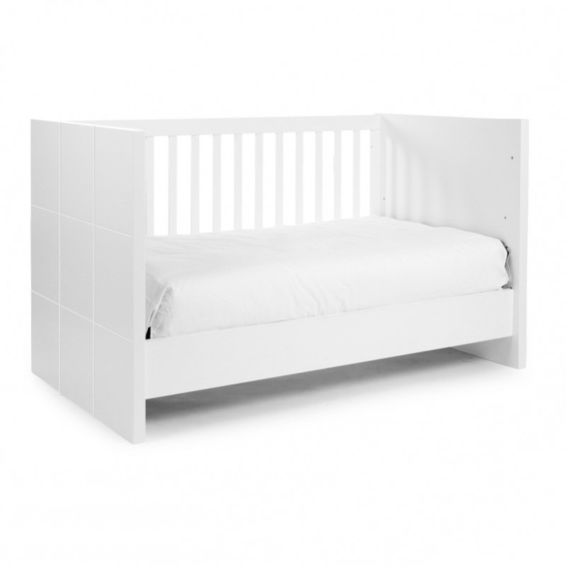 Childwood B140QN Quadro White Cot Bed 70 X 140 Slats