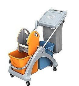 Splast cleaning trolley  - with 2 x 25L buckets and 60L plastic bag