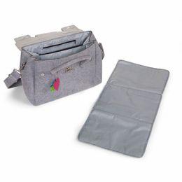 Childwood Felt special nursery bag grey + stroller hooks – Bild 2