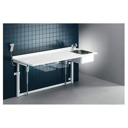 Pressalit changing table 800 x 1800 mm with sanitary appliances - electric motor