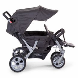 Childwheels Triplet stroller anthracite 3 children + rc – Bild 3