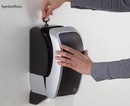 Metzger COSMOS abschließbarer Toilettenpapierspender aus ABS Kunststoff in weiß – Bild 4