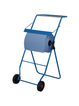 Metzger blue cleaning roll holder with floor stand for rolls up to 40 cm width