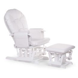 Childhome Gliding chair round beech white with footrest – Bild 1