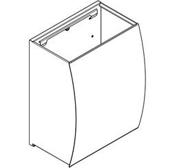 Stratos hinged cover essay for the waste container STRX 607 – Bild 2