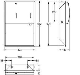 Franke Unterputz Papierhandtuch- und Seifenspender Kombination STRX601E aus Edelstahl – Bild 3