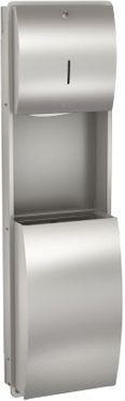 Franke towel and waste receptacle combination of stainless steel – Bild 1