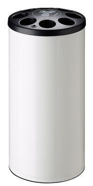 Rossignol Multigob weißer Bechersammler aus Stahl mit oder ohne Abfallkorb  – Bild 1