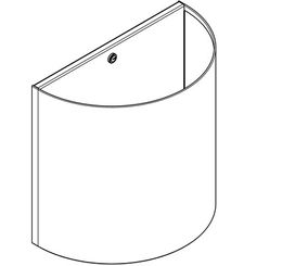Franke waste bin BS610 made of stainless steel for wall mounting – Bild 2