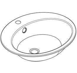 Franke ovales Unterbaubecken RNDH451-O zur Einlegemontage – Bild 2