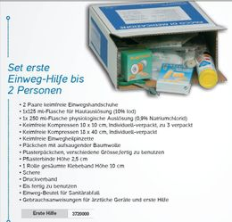 First-aid set suitable for the medicine cabinet RB000210