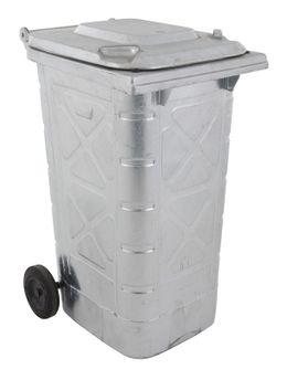 Galvanised Wheelie Bin Container 240 L