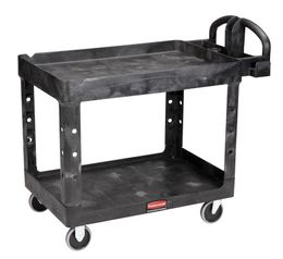 Rubbermaid heavy-Duty utility Cart with lipped shelves – Bild 1