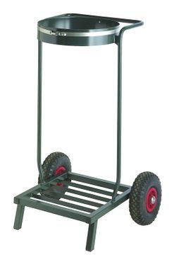 Single mobile sack holder 110 liters