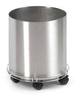 Stainless steel decorative pot 38 cm