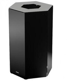 Rossignol Hexatri Abfallbehälter für Abfalltrennung 50L ohne Schloss aus Stahl – Bild 7