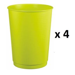 Rossignol Peps set of 4 wastepaper bins 40L made of polypropylene with top lip