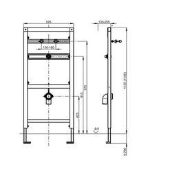 Franke Installationselement CMPX136 aus Stahl zur Wand- und Bodenmontage – Bild 3