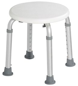 Rossignol Biska adjustable stool with white seat in polyethylene – Bild 2