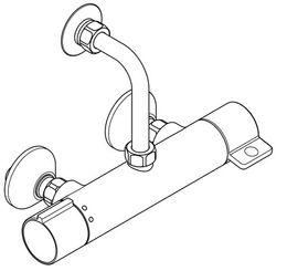 Franke Selbstschluss-Thermostatbatterie als Wandbatterie mit Safe-Touch-Gehäuse – Bild 2