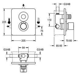Franke thermostaatmengkraan AQLT0094/AQLT0093 gemaakt van roestvrijstaal – Bild 2
