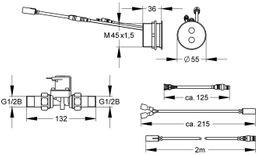 Franke A3000 open opto-elektronisch gesteuerte Duscharmatur DN 15 in Kombinationsbauweise – Bild 2