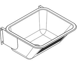 Franke general purpose utility sink for wall mounting made of stainless steel – Bild 3
