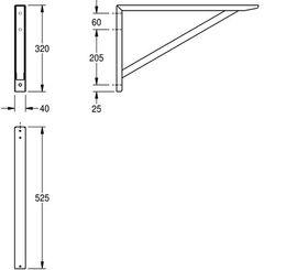 Franke Konsole zur Wandmontage aus Chromnickelstahl mit seidenmatter Oberfläche – Bild 2