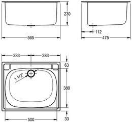 Franke Einlege-Mehrzwecktrog aus Chromnickelstahl mit seidenmatter Oberfläche – Bild 2