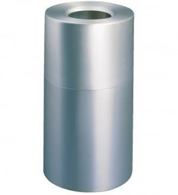 RUBBERMAID Atrium™ Aluminium container 132,5 liters in silver fire safe