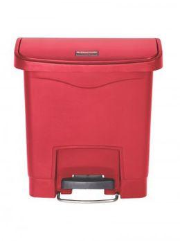 RUBBERMAID Slim Jim® Kunststoff-Tretabfallbehälter mit Pedal an der Breitseite 15 L – Bild 4