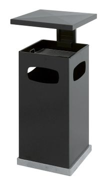 Outdoor Ash-waste paper bin with rain cover 70 litres – Bild 2