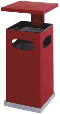 Outdoor Ash-waste paper bin with rain cover 70 litres – Bild 3