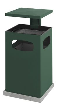 Outdoor Ash-waste paper bin with rain cover 80 litres – Bild 1
