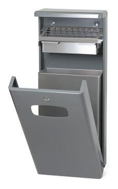 Abfalbehälter für draußen mit Dach 32 Liter – Bild 1
