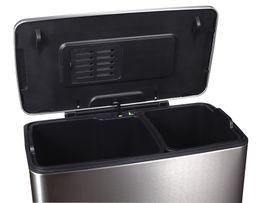 Recycling-Tritt-Mülleimer E-Cube 28+18 Liter, EKO – Bild 3