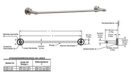 Bobrick Cubicle Collection Edelstahl Handtuchstange mit 460- oder 640mm Länge – Bild 2