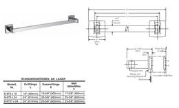 Bobrick B-673x24 / x18 Handtuchstange für Aufputzmontage in 2 verschiedene Längen – Bild 2