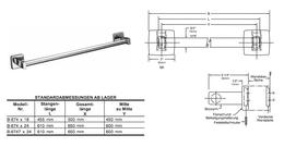 Bobrick B-674x18 / x24 runde Edelstahl hochglanpolierte Handtuchstange in 2 Längen – Bild 2