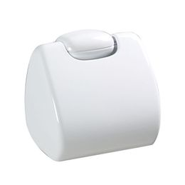 Rossignol Sanipla white toilet paper holder with supplied screws for wall mounting
