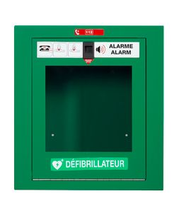 Rossignol Clinix defibrillatorbox made of steel with front opening and 100 dB alarm  – Bild 2