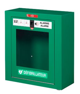 Rossignol Clinix defibrillatorbox made of steel with front opening and 100 dB alarm  – Bild 1