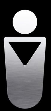"Proox® ONE pure PU-810 stainless steel Pictogram ""men"" for door self adhesive – Bild 1"